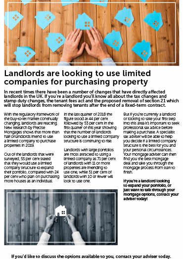 Landlords Purchasing Property